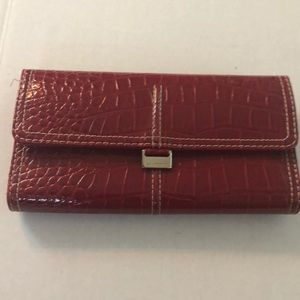 Liz Claiborne wallet alligator leather